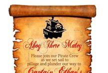 Pirate Party Pack / Every little boy love Pirates. So here's my take on a little boys Pirate Party.  / by Vickie List