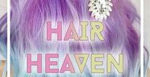 Hair Heaven / Loads of gorgeous hair ranging from different dyed hair and natural. Different hair looks and hairstyles.