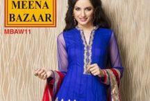 SUITS - MEENA BAZAAR / #suit #Meena_bazaar #designer #dailywear #partywear #designer #ethnic #elegant #beautiful