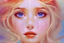 illustrated pretties / illustrations of girls, books, mermaids and other pretties