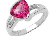 Topaz Jewellery / The birthstone for November topaz comes in clear, pink, blue and shades of brown/gold.