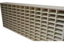 MDF Pigeon Hole Units / MDF Pigeon hole units, shelving and open cube displays.