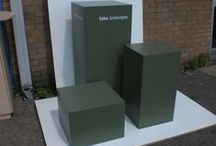 MDF Pedestals for Fake Landscapes / MDF Displays manufactured pedestals for Fake Landscapes