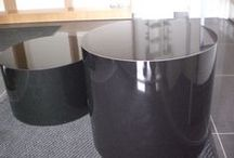 Black Gloss Circular Display Plinths / Black Gloss Circular Display Plinths