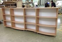 Curved Shelving / We manufacture bespoke shelving units, storage and displays.