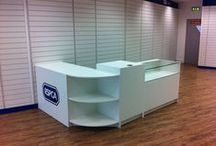 Retail Counters / We manufacture counters for shops, exhibitions, retail outlets, high street stores, trade counters and independent retailers.