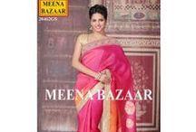 Festive Saree Collection / #designer #saree #MeenaBazaar #wedding #partywear #trousseau #festive #KarwaChauth