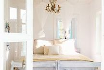 La Provence interior style / French country design often incorporates ruffles, distressed woodwork, and both vibrant and subdued hues