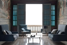 Belgian interior style / welcome to home of oaken cabinetry, deep hue colors and natural stone