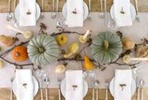 Autumn Inspired Tablescapes and Decor / Fall brings the quintessential nature inspiration for one's home: color changing foliage, gorgeous produce (that works as both food and decor!) and family get-togethers. Decorate your digs with all that the season has to offer (in a tasteful way).