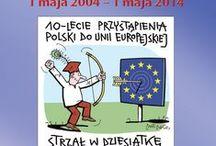 """Strzał w dziesiątkę - wystawa / """"Strzał w dziesiątkę!"""" to wystawa ukazująca drogę Polski do UE z perspektywy dekady członkostwa w europejskiej wspólnocie."""