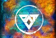 Designing Brendon Thomas & the Vibes / Creating artwork for the blues band Brendon Thomas & the Vibes