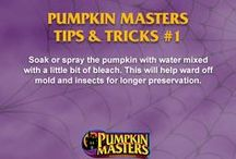 Pumpkin Carving Tips and Tricks from Pumpkin Masters / We've put together our favorite pumpkin carving tips and tricks to get you through the Halloween season.