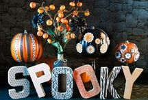 Decorated Pumpkins / Keep your Halloween decor lasting longer by decorating instead of carving your pumpkin.