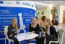 """Projekt: Praca! / Staże, praca, kariera w Komisji Europejskiej i innych instytucjach UE - właśnie o tym będziemy Was informować na uczelniach w 12 polskich miastach. Bierzemy udział w akcji Gazety Wyborczej -""""Projekt:Praca"""""""