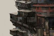 Сyberpunk / Sci-Fi (macro) / cityscapes