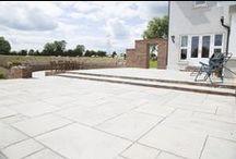 Country Garden Patio / Kandla Grey Sandstone used here fantastically in a Irish country garden.