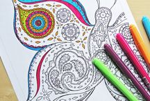 Colouring / Colouring pages for relaxing the mind and creating gifts.