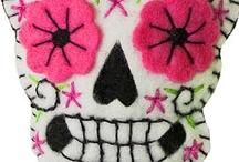 day of the dead / skulls / by Sherry Nesbit Evans