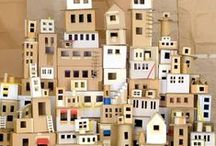 Houses / Dollhouse, miniature houses, prints of houses,plush houses, tiny house, all houses out of proportion and situation.