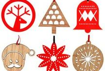 Wooden chritmas decoration / Wooden chritmas decortion. Stylish wooden decor for chritmas holiday.