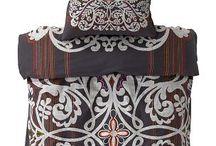 | BEDROOM  | / Ethnic bedroom, global style, dark wood, kilim.