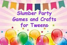 Slumber Party Ideas / Here are some fun tired and true tween girl tested slumber party ideas for your daughter's sleepover.