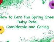 How to Earn the Light Green Daisy Petal Considerate and Caring / Activities to earn the Light Green Daisy Petal, Considerate and Caring, with your Daisy Girl Scout troop