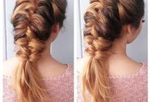 braids / just a couple of ways how to make your hair super pretty without too much work!