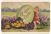 Vintage Easter / Vintage Easter printables, greeting cards, decoration.