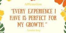Affirmations / Affirmations for life, personal development and happiness