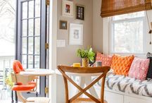 Kitchen,Nook,banquette,dining inspiration / Apply this to me home❤
