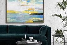 Yellow, Teal and Grey. / Yellow, Teal and Grey, great color combinations in home decor.