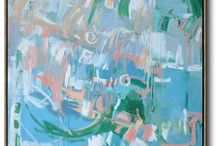 Abstract Painting / Hand painted abstract painting on canvas, large abstract art from CZ Art Design.  www.CZArtDesign.com