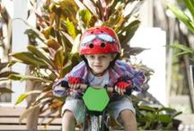 Our Amazing Products / Some of the cool balance bikes, helmets, gloves and box carts available