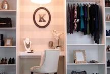 Walk-in closet inspiration /  My dream dressing room. General closet inspiration from small wardrobes to large designer dressing rooms.
