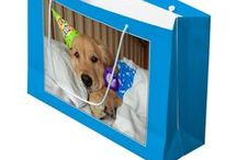 Golden Retriever Gift Bags / Some golden retriever gift bags that we sell in our shop! Come see all of our products at www.Zazzle.com/AugieDoggyStore*/