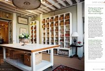 Craft Room Ideas / Living vicariously through the amazing craft rooms of Pinterest...
