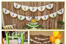 Simba's 3rd Birthday Party / Ideas for Simba's 'orange lion party'