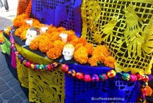 Dia de los Muertos / Colors, people, traditions and flavors from day of the death celebration in Mexico on November 2nd