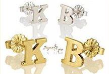 Pendientes personalizados con tu Nombre o Inicial / www.joyas4you.com / Pendientes de moda, preciosos y originales