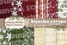 Buncha Scraps Holiday Collections / Buncha Scraps Digital Scrapbooking Graphic Collections for  Paper Crafting for the Holidays
