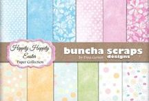 Buncha Scraps Spring Collections / Buncha Scraps Spring Digital Scrapbooking Graphic Collections for all your Paper Crafting Projects