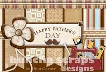 Buncha Scraps Father's Day Collections / Buncha Scraps Father's Day Digital Scrapbooking Graphic Collections for all your Paper Crafting Projects