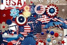 Buncha Scraps 4thof July Collections / Buncha Scraps 4th of July Digital Scrapbooking Graphic Collections for all your Paper Crafting Projects