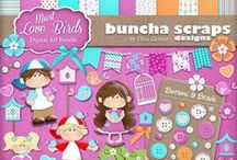 Buncha Scraps Everyday Collections / Buncha Scraps Everyday Digital Scrapbooking Graphic Collections for all your Paper Crafting Projects