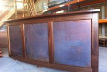 Copper Interior Design Portfolio / Copper Table Tops, Bar Tops and other products we have made from Copper Sheet Metal