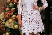 CROCHÊ VESTIDOS FASHION / Inspiração e tendências de moda em vestidos de crochê / by DIANA RIBEIRO