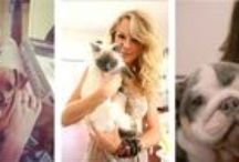 CATS AND PEOPLE / Personnalités photographiées avec un chat