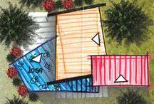 Esquema de Proyectos / Esquemas gráficos de los diferentes proyectos arquitectonicos realizados por la oficina Claudia Rendón Arquitecta